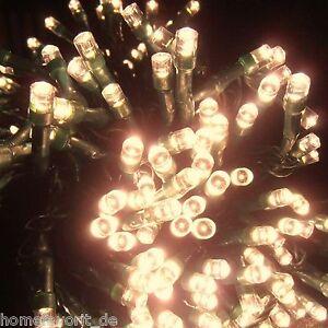 50er Qualitäts-LED Lichterkette warm weiß Weihnachtsbeleuchtung innen+außen NEU