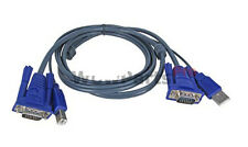USB VGA SVGA KVM 15 Pin Standard Switch Printer Cable for Keyboard Monitor Mouse