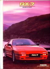 MAZDA RX-7 SPORTS COUPE SALES BROCHURE 1987