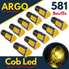 Bau15s Py21w 581 Indicator Led Amber Yellow Cob Car 1156 Signal Light Bulbs 12v