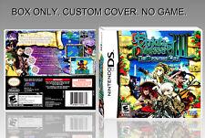 NINTENDO DS : ETRIAN ODYSSEY 3. UNOFFICIAL COVER. ORIGINAL BOX. NO GAME. ENGLISH