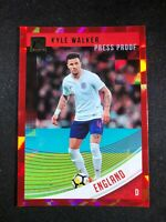 2018-19 Panini Donruss Soccer Kyle Walker England #129 Red Press Proof