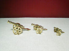 3x Antique Brass Cannon Set of 3 Vintage Show Piece Lot of 3 Decor Gift Handmade