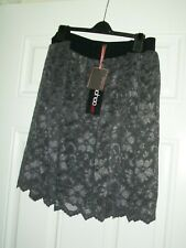 6f7889084a24 New Ladies Skirt Boohoo Sexy grey lace skater skirt soft layered fabric Size  24