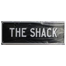 Novelty Number Plate - The Shack - White On Black AUS Licence Plate Sign Wall Ar