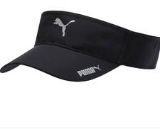 PUMA SPORT FIT ADJUSTABLE VISOR CAP BLACK COLOR SUN PROTECTOR