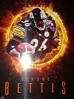 Jerome Bettis The Bus 97/99 5x7 Jumbo Pittsburgh Steelers Ring Of Fire