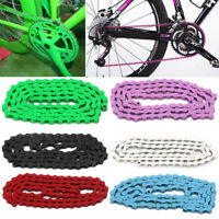 Bicycle Bike Chain Single Speed 1/2''x1/8'' Colours MTB BMX Fixie Fixed Gear 96L