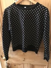 Black Polka Dot Sweatshirt By AMERICAN APPAREL size XS