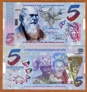 Kamberra, Kingdom, 5 Numismas, 2018, UNC > Darwin > Upgraded Security