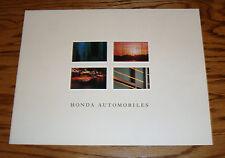 Original 1990 Honda Full Line Sales Brochure 90 Accord Civic Prelude CRX