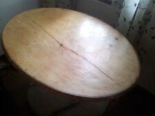 antike alte stabile Tischplatte Weichholz oval 126x90cm für Eßtisch Schreibtisch