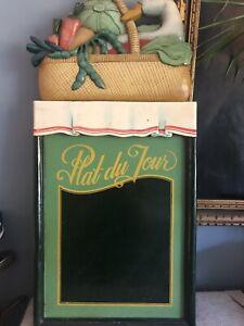 Vintage Painted Wooden Pub Restaurant Menu Board. Plat Du Jour/Today's Special