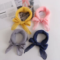 Fashion Lady Multi-color Square Silk Feel Satin Scarf Head Neck Hair Tie Band CY