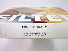 NEW SCHNEIDER OPTICS 138mm CORAL 2 ROUND GLASS FILTER #68-100238