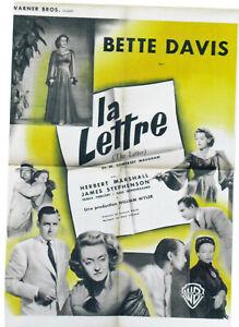 LA LETTRE - B.DAVIS -W.WYLER - 1940 - WB - 60 X 80 cm -