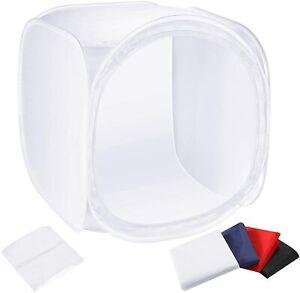 Large 90cm Studio Cube Tent Pop Up Light Box CubeLite Backdrops Photo Booth