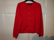 George Girls Red Cardigan Gold Buttons - 6-7 Years