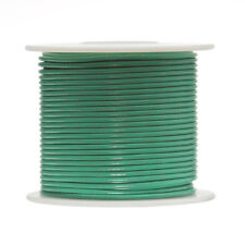 "18 AWG Gauge Stranded Hook Up Wire Green 250 ft 0.0403"" PTFE 600 Volts"
