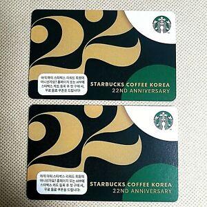 Starbucks korea  2021 2 card collection -  Starbucks 22ND  Anniversary Card