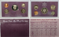 1990 Proof set CN-Clad Kennedy Half dollar Washington - (OGP) 5 coins
