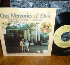 """*<*  ELVIS PROMO 1979 1st pressing """"ARE YOU SINCERE"""" CLEAN M- 45/PICTURE SLEEVE!"""
