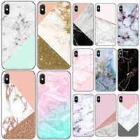 Women's iPhone X Marble Shockproof Silicone Protective Gel Case Cover for Ladies