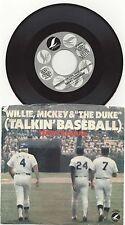 1981 Talkin' Baseball Willie Mickey & The Duke Lifesong 45RPM Stereo  45086