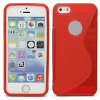 HOUSSE ETUI COQUE SILICONE GEL ROUGE APPLE IPHONE 5C