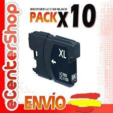 10 Cartuchos de Tinta Negra LC1100 NON-OEM Brother DCP-385C / DCP385C