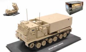 Miniature Demi Militaire solido M270A1 Rocket Launcher Desert Camouflage 1:48