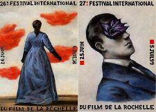 LOT 2 CARTES POSTALES FESTIVAL INTERNATIONAL DU FILM DE LA ROCHELLE - 1998/1999