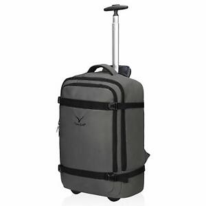 42L Travel Rolling Backpack Flight Approved Carry on Wheeled Luggage