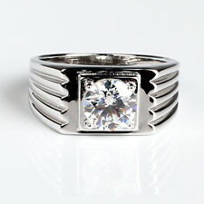 2ct Synthetic Sona Diamond 925 Sterling Silver Men Wedding Ring Size 11 Jewelry