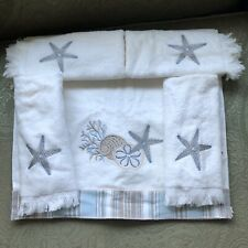 Avanti  By The Sea Hand Towel With 4 Fingertip Towels NWT