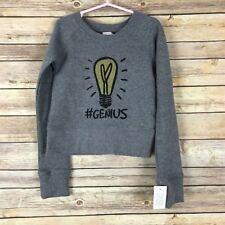 Junk Food Unisex Kids Sweatshirt Crew Neck Genius Lightbulb Print Gray Size XS