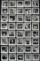 Lot of 40 Small VTG Snapshots Photos 1950s-1960s MEN WOMEN KIDS FAMILY COUPLES