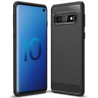 Hülle Carbon für Samsung Galaxy S10 Plus Schutzhülle Handy Case Hybrid TPU Cover