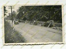Foto, zerstörte Geschütze, Rückzugsstrasse bei Lemberg Polen, Ukraine (N)19544