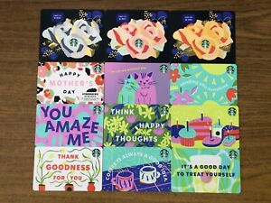 **PRESALE** 12 NEW STARBUCKS 2021 MOTHERS DAY AND VARIOUS GIFT CARDS LOT DIE CUT
