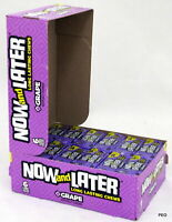 (2) Now and Later Grape Candy Taffy (24 count, 6 piece bars) Bulk PRIORITY SHIP