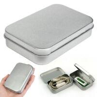 Metal Tin Silver Flip Small Storage Box Case For Money Coin Candy Keys Organizer
