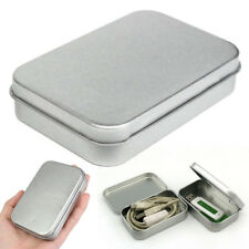 Hot Metal Tin Silver Flip Storage Box Case Organizer For Money Coin Candy Keys