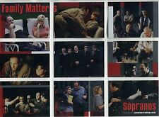 The Sopranos Season 1 Complete Family Matters Chase Card Set FM1-9