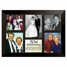 "50th Anniversary Photo Collage Frame, 10.5"" x 14.25"", Lighthouse Christian"