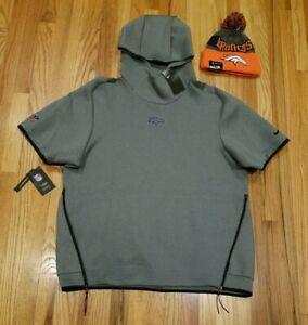 Nike Mens Denver Broncos On Field Hoodie + Hat Grey AR6087-021 Size XL MSRP $150