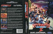 Street of Rage 2 Sega Mega Drive PAL remplacement Box Art Insert CASE COVER repro