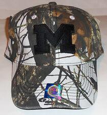 NWT MENS UNIVERSITY OF MICHIGAN WOLVERINES MOSSY OAK CAMOUFLAGE BASEBALL HAT