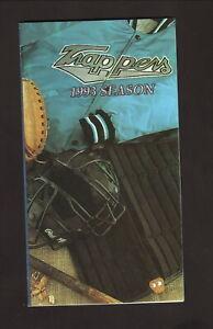 Edmonton Trappers--1993 Pocket Schedule--Labatt Blue--Marlins Affiliate