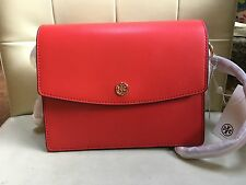 NWT Tory Burch Robinson $395 Parker Convertible Shoulder leather Bag Red